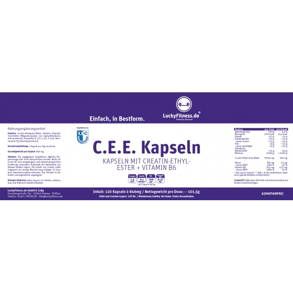Creatin Ethyl Ester Kapsel (700mg, 120 Kapseln)