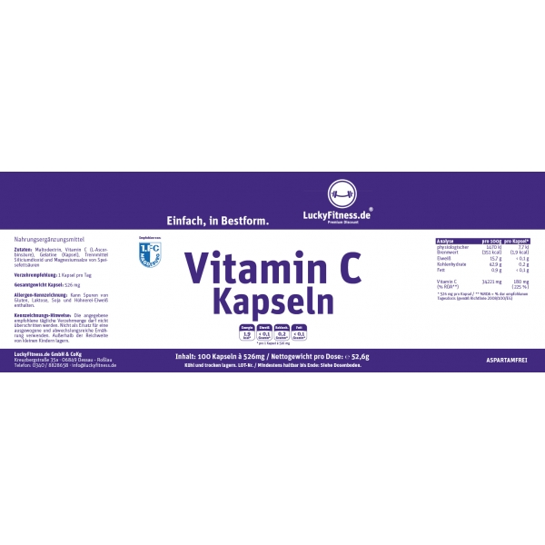 Vitamin C Kapseln (180mg)