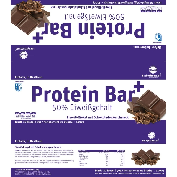 Protein Riegel 50 Low Carb Riegel Cookies Luckyfitness Shopde